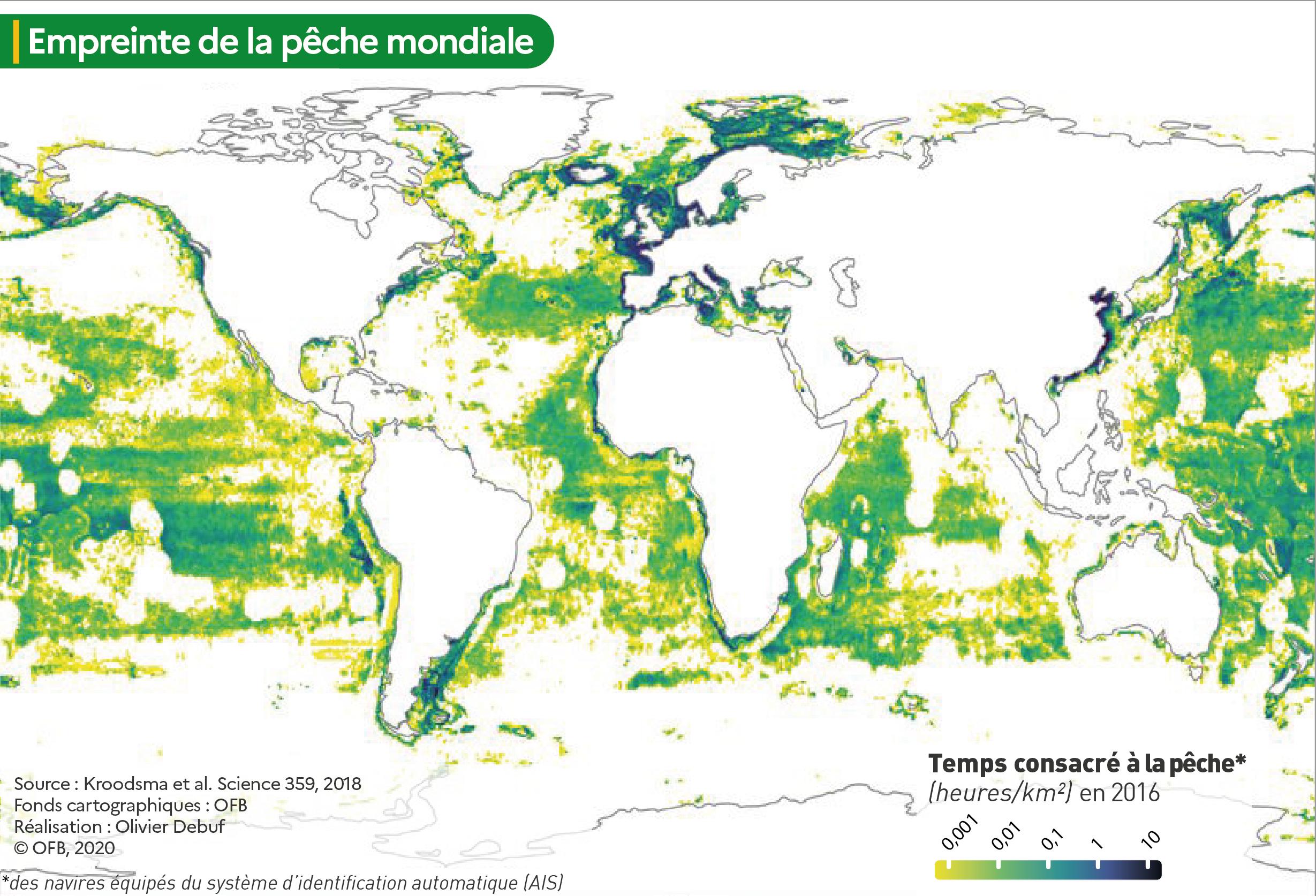 """Carte """"Nombre d'heures de pêche par km²"""""""