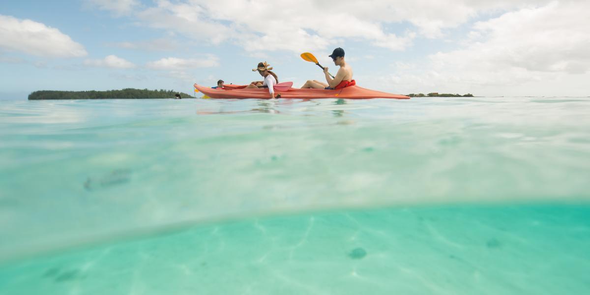 Kayak de mer à Moorea (Polynésie française)