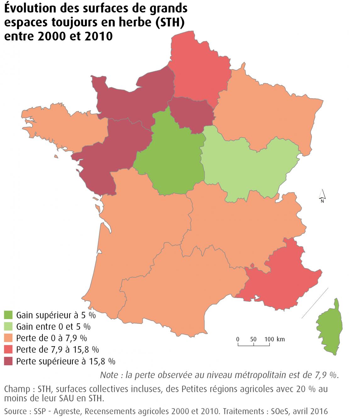 Valeur de l'indicateur régionalisé