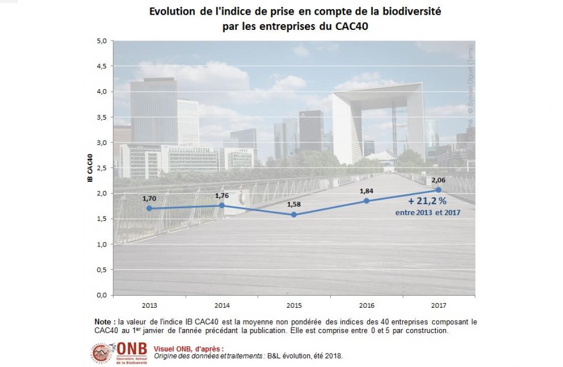 Évolution de la valeur de l'IB CAC40 de 2013 à 2017